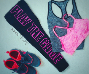 pink, fashion, and fitness image