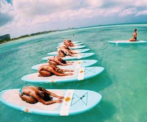 summer, yoga, and beach image