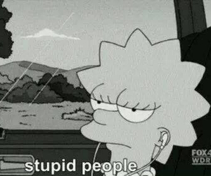 stupid, people, and simpsons image
