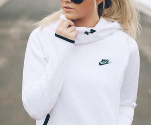 nike, white, and sport image