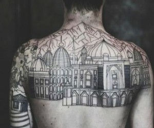 tattoo, boy, and city image