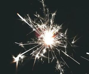 light, fireworks, and dark image