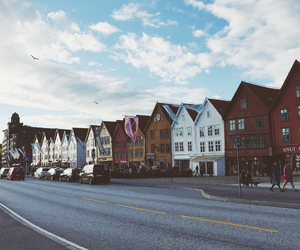 bergen, buildings, and evening image