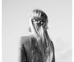 blonde, flowers, and long hair image