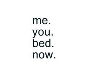 bed, u, and me image