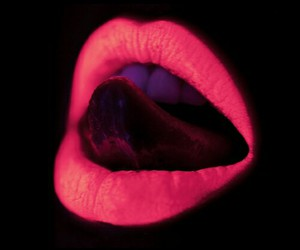 lips, neon, and pink image