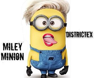 minions, miley cyrus, and miley image