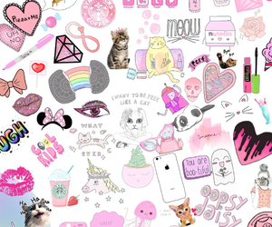 Collage, pink, and wallpaper image