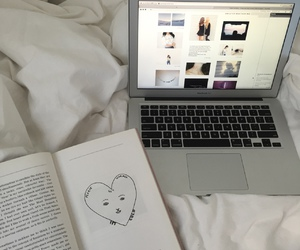 book, tumblr, and bed image