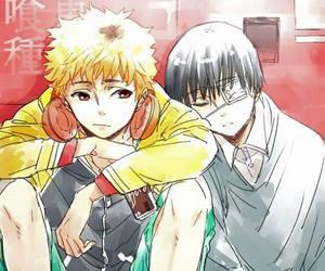 sleeping, anime boy, and tokyo ghoul image