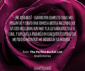 flor, the perfect bucket list, and frases image
