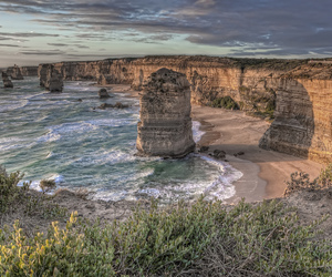 australia, beach, and cliff image
