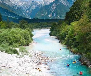 slovenia, travel, and river image
