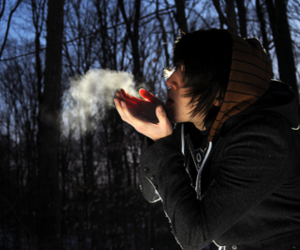 boy, smoke, and cold image