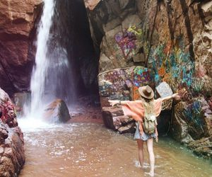 waterfall and travel image