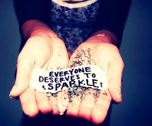 sparkle, quote, and glitter image
