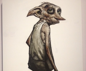 harry potter, dobby, and art image