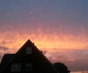 clouds, evening, and orange image