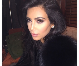 kim kardashian, beauty, and makeup image
