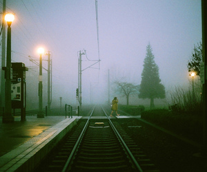 photography, fog, and train image