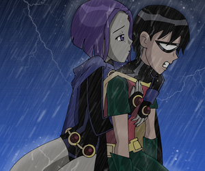 raven, robin, and teen titans image