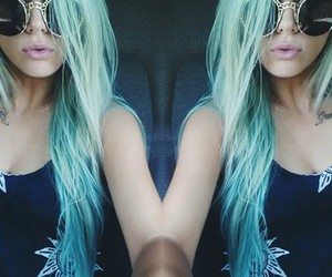 beuty, blue, and hair image
