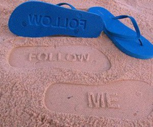 follow me, follow, and beach image
