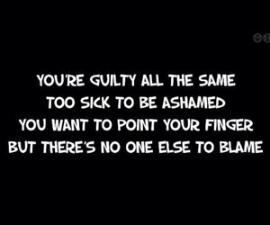 linkin park, guilty all the same, and Lyrics image