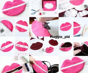 diy, pink, and lips image