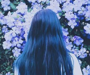 blu, blue, and blue hair image