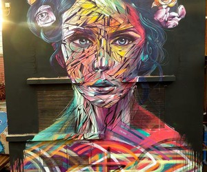 cool, graffiti, and flowers image