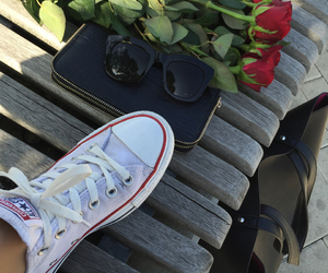 black, blonde, and converse image