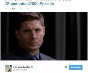 dean, Jensen Ackles, and supernatural image