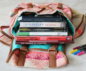 books, school, and backpack image