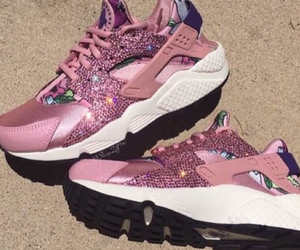 pink, nike, and shoe image