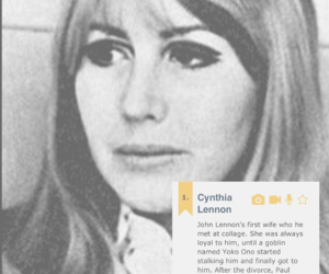john lennon, pretty, and cynthia lennon image