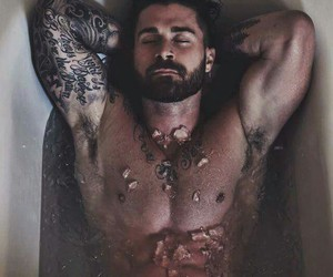 beard, Hot, and ink image