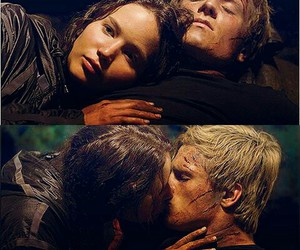 peeta mellark, katniss everdeen, and love image