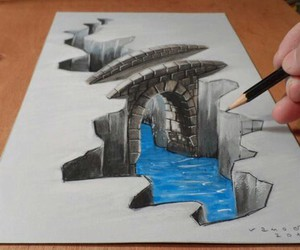 art, 3d, and water image