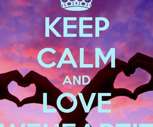 it, ❤, and keep calm image