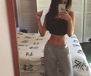 fitness, body, and outfit image