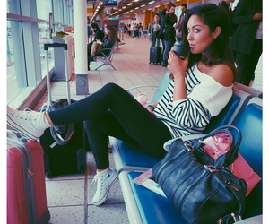 airport, bag, and converse image