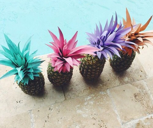 pineapple, summer, and pool image
