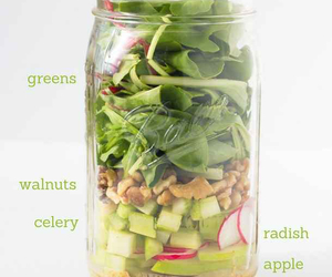 healthy, salad, and fit image