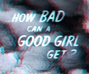 background, bad girl, and clouds image