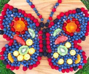 fruit, food, and butterfly image
