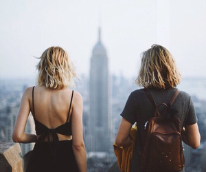 back, bags, and short hair image