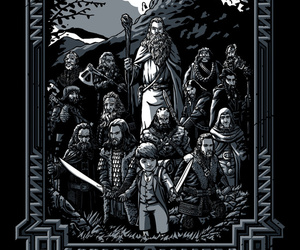 company, dwarves, and gandalf image