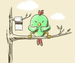 bird, funny, and illustration image