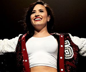 demi lovato, singer, and smile image